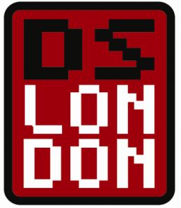 The DS:London logo in one of its many guises...