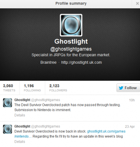 ghostlight tweet dso
