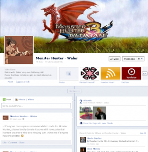 Monster Hunter Wales is just one in a plethora of regional MH3U groups recently set up...