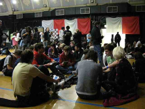 Hundreds of DS fans came down to the Rocket Complex in North London in 2008 to endeavour to break the world record of most people playing DS in a room at once. Photo CC Rain Rabbit.