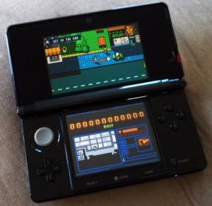 As with most 3DS titles both screens have their uses...