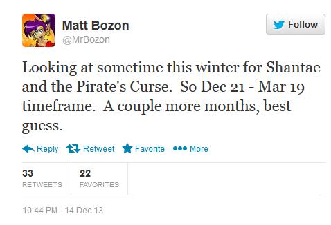 shantae 2014 tweet