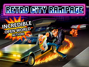 The Retro City Rampage logo and artwork