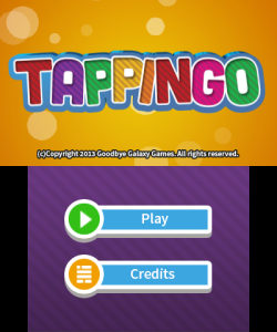 Tappingo title screen