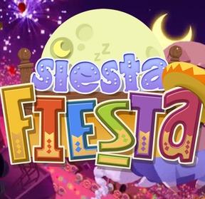 Siesta Fiesta's Viva Piñata-esque logo