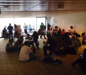 The scene at our recent Smash Bros meet