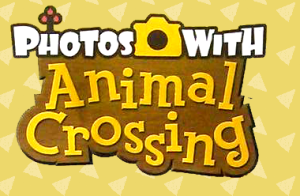 Photos with Animal Crossing logo. Cleaned up from a scan. Background by me, but based on official art
