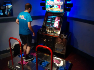 Obligatory DDR machine. Every decent arcade needs one! This one is running DDR X3 vs 2ndMix