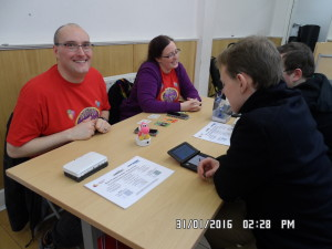 Lightwood Games showing off Word Puzzles and more at the recent StreetPass London event