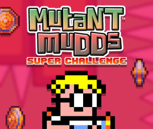 The 'Mutant Mudds Super Challenge' logo
