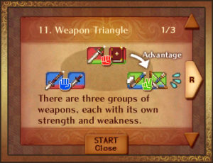 The franchise's iconic Weapon Triangle