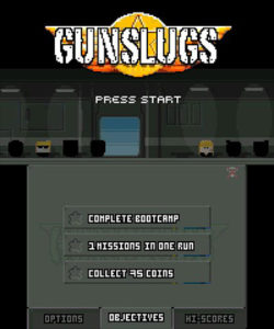 Gunslugs main screen